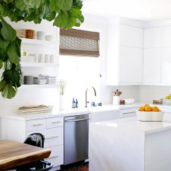 Kitchen Upgrade Brick Effect Wall Tiles Mod In Bright White Brass Nicole Davis Interiors We Love The Way This Modern Came Together And Are Excited To Share It Our Young Hip Clients Asked Us Create A Light Space