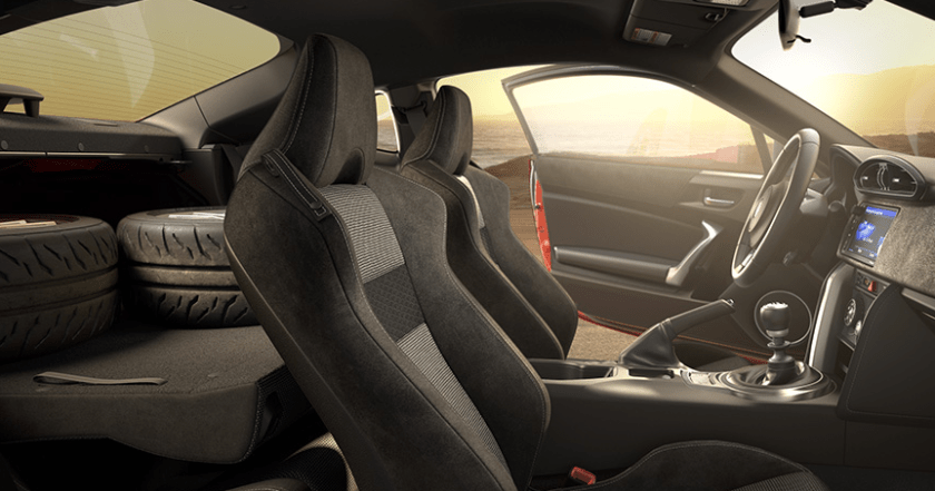 The Toyota 86 - a car so badass you can put two wheels in the back and still drive it.