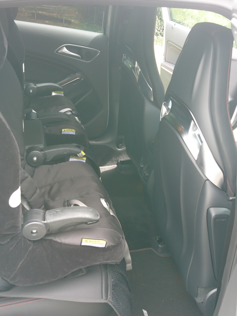 Rear legroom is suitable for smaller members of the family.