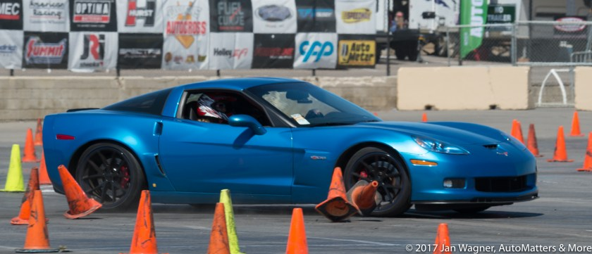 Cones sent flying on the autocross
