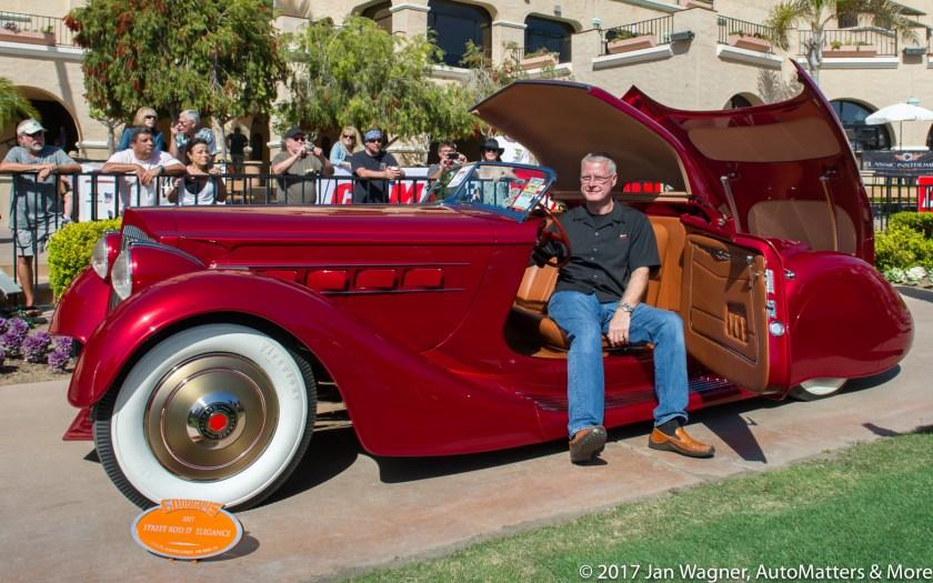 Mulholland Speedster won Street Rod d Elegance award