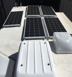 equipment added 5x sf180 solar panel kits 1x roof combiner box 1x victron bluesolar smart [ 1000 x 1333 Pixel ]