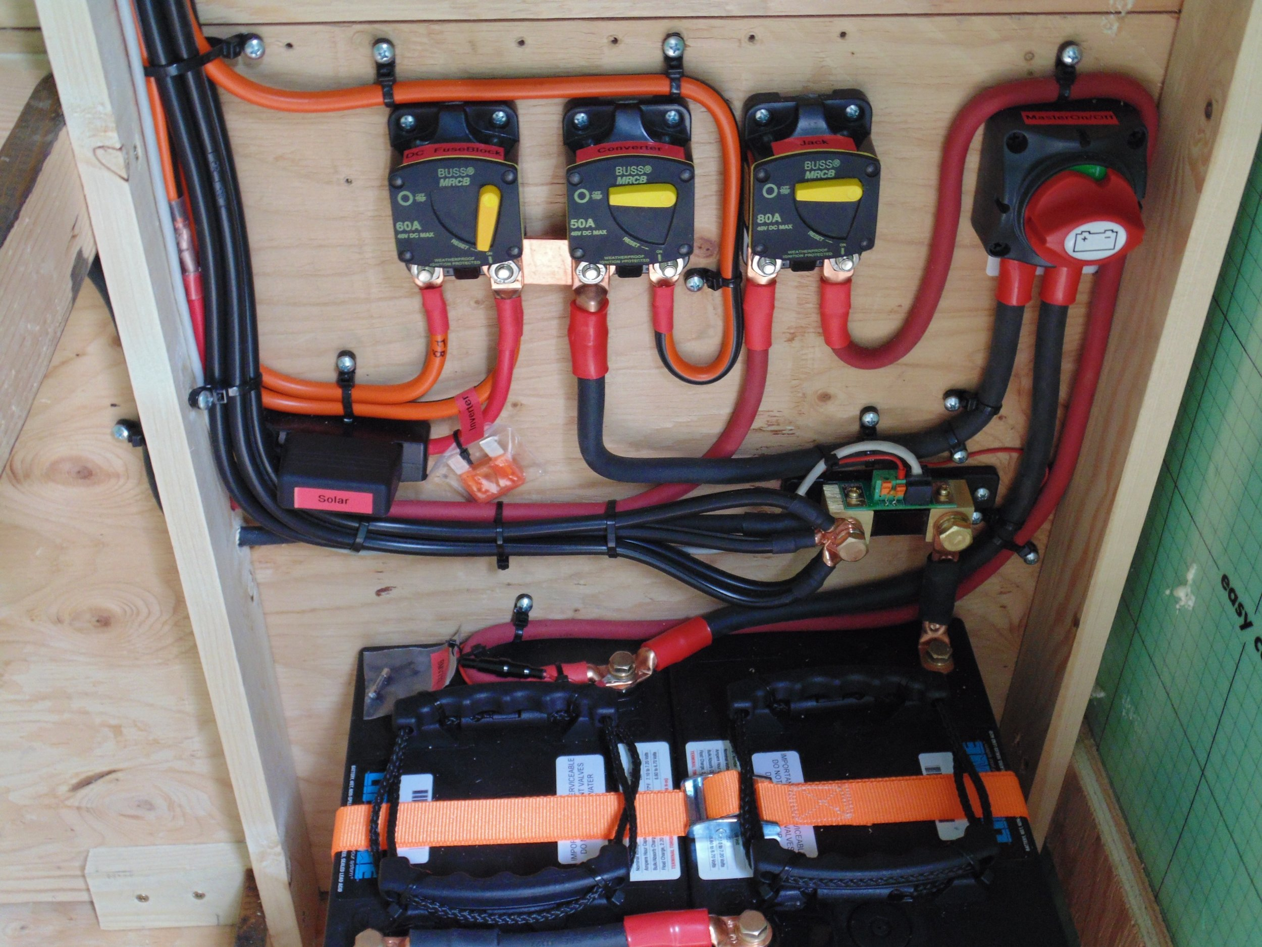 6 wire trailer plug wiring diagram ge oven parts solar panel installation for rvs trailers am batteries and breakers