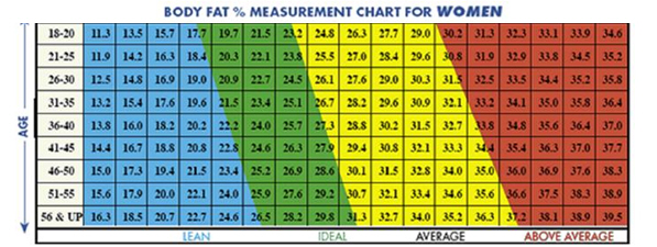Ideal body fat percentage chart also my  sheridestoday rh