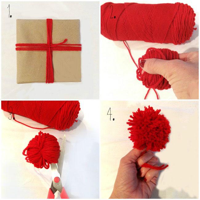 Diy Yarn Gift Wrapping Take A Bite