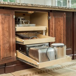Kitchen Floor Cabinet Best Place To Buy Appliances Updated With White Dark Cherry Modern Cabinets Ackley Storage Pull Out Sliding Shelves