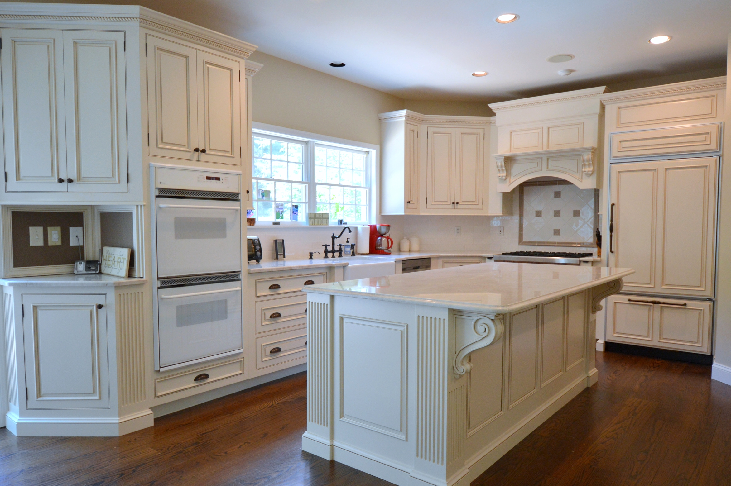 glazed kitchen cabinets small island with storage remodeling tuscan custom ackley cabinet llc antique white cross river ny