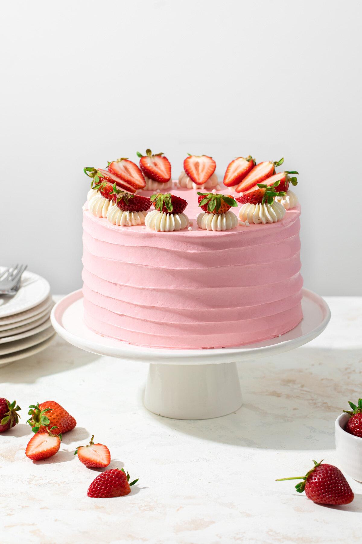 Strawberry Layer Cake Style Sweet Ca