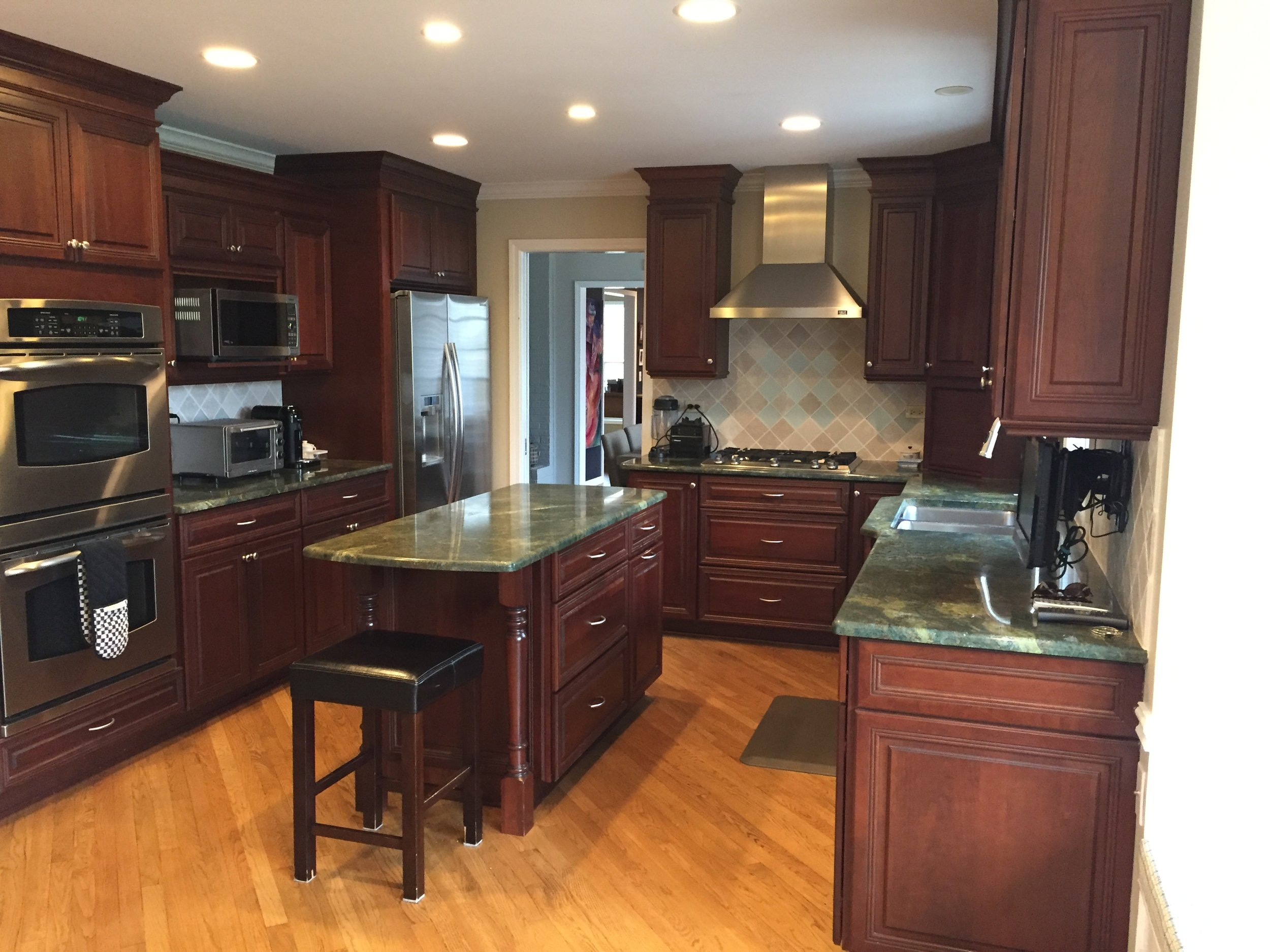 stainless steel kitchen cart with drawers remodeling ideas gorgeous omega dark wood cherry complete new ...