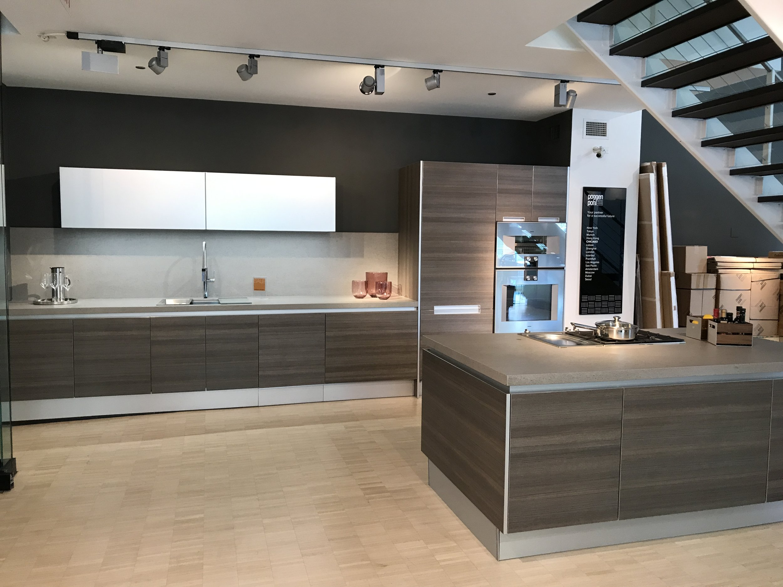 complete kitchen danze parma faucet new poggenpohl appliances marble counter gaggenau