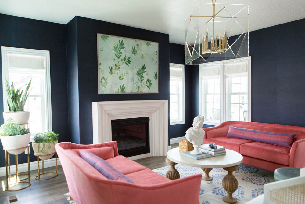sofas bay area antique camel back color crush: navy and coral in interior design | ...