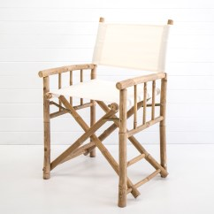 Bamboo Directors Chairs Chair Design Principles Wedding And Event Hire Hampton White