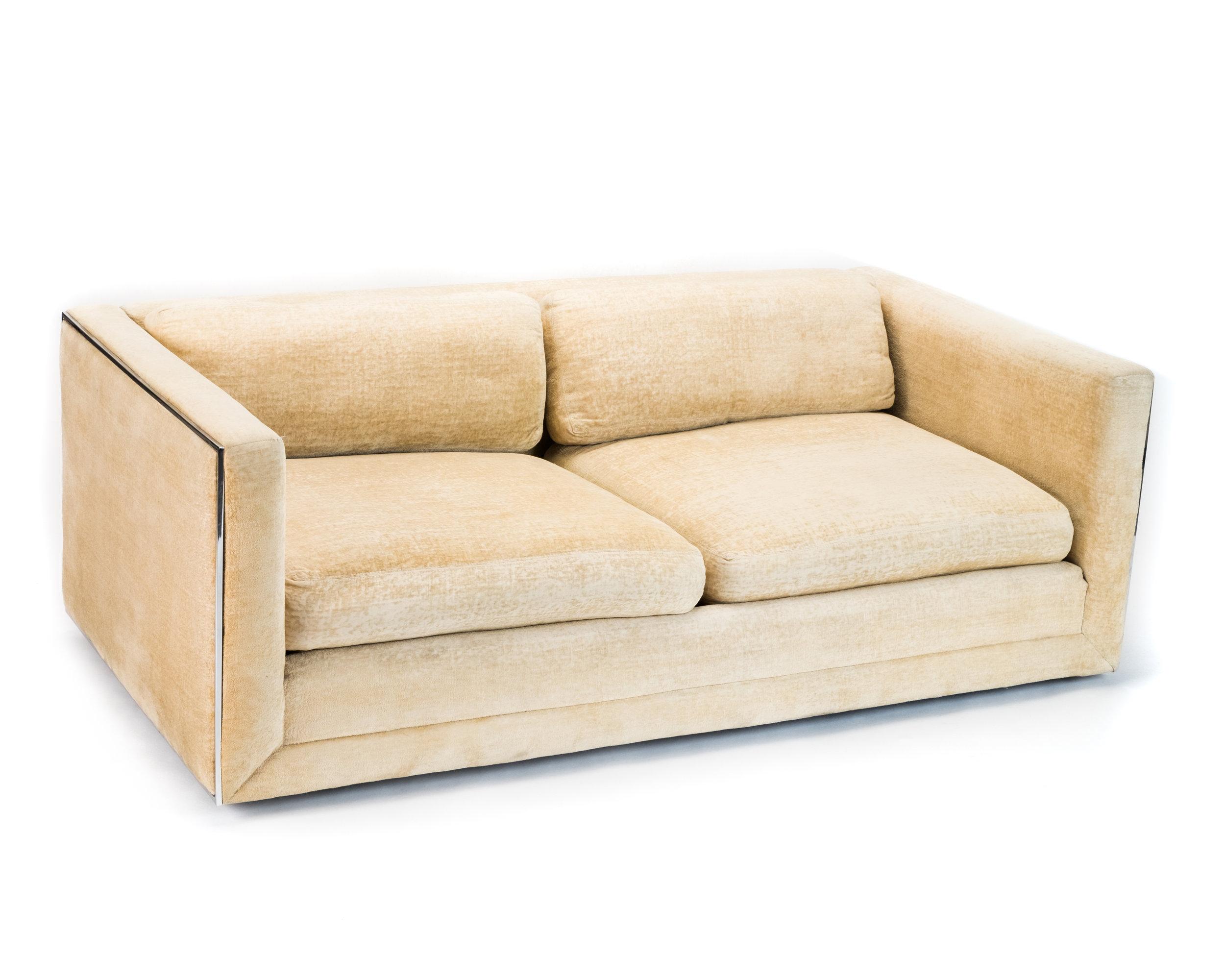70s sofa durdham fabric chaise longue bed retro velvet 70 s hook props
