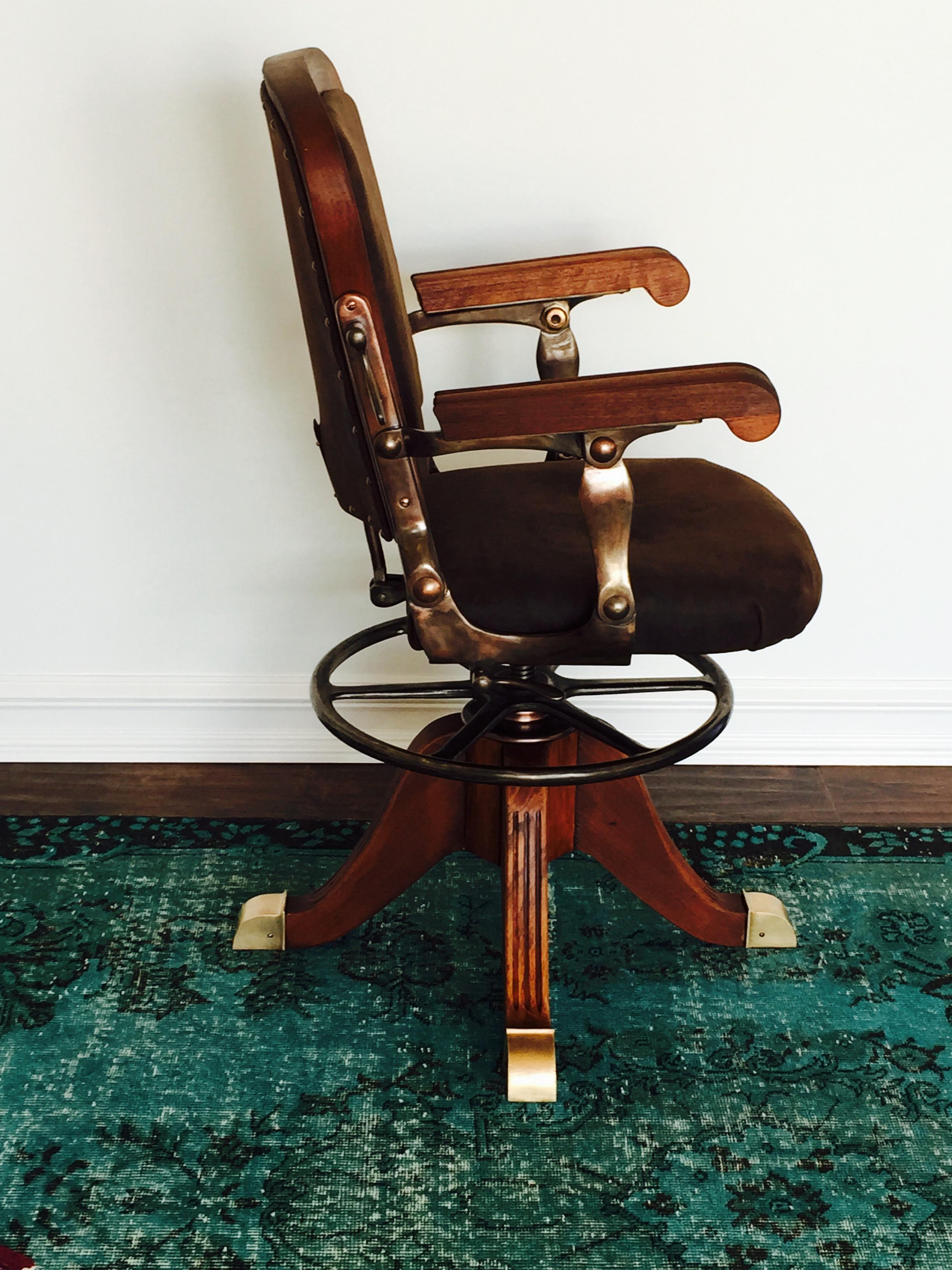 vintage dentist chair staples red leather office dental palladium arts studio