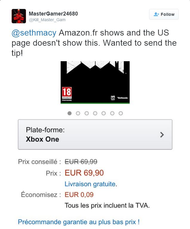 Could Amazon France have leaked the release date of DOOM?