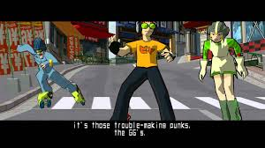 Game play of Jet Set Radio