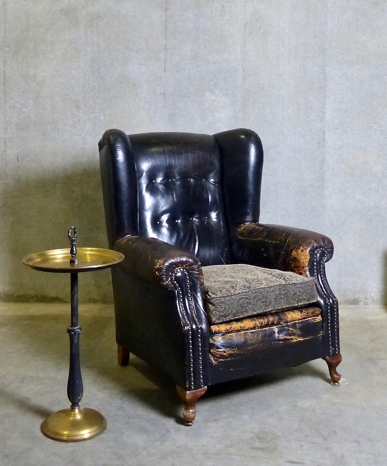 Wingback Tufted Chair 1920 Leather Tufted Wingback Chair