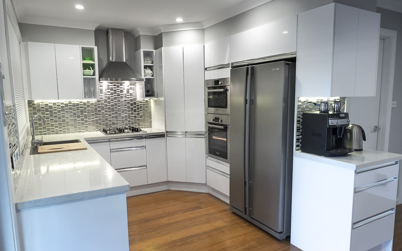 white kitchen bench counters concrete benchtops canberra benches