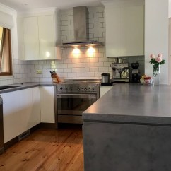Kitchen Benches Farmhouse Style Islands Concrete Benchtops Canberra White