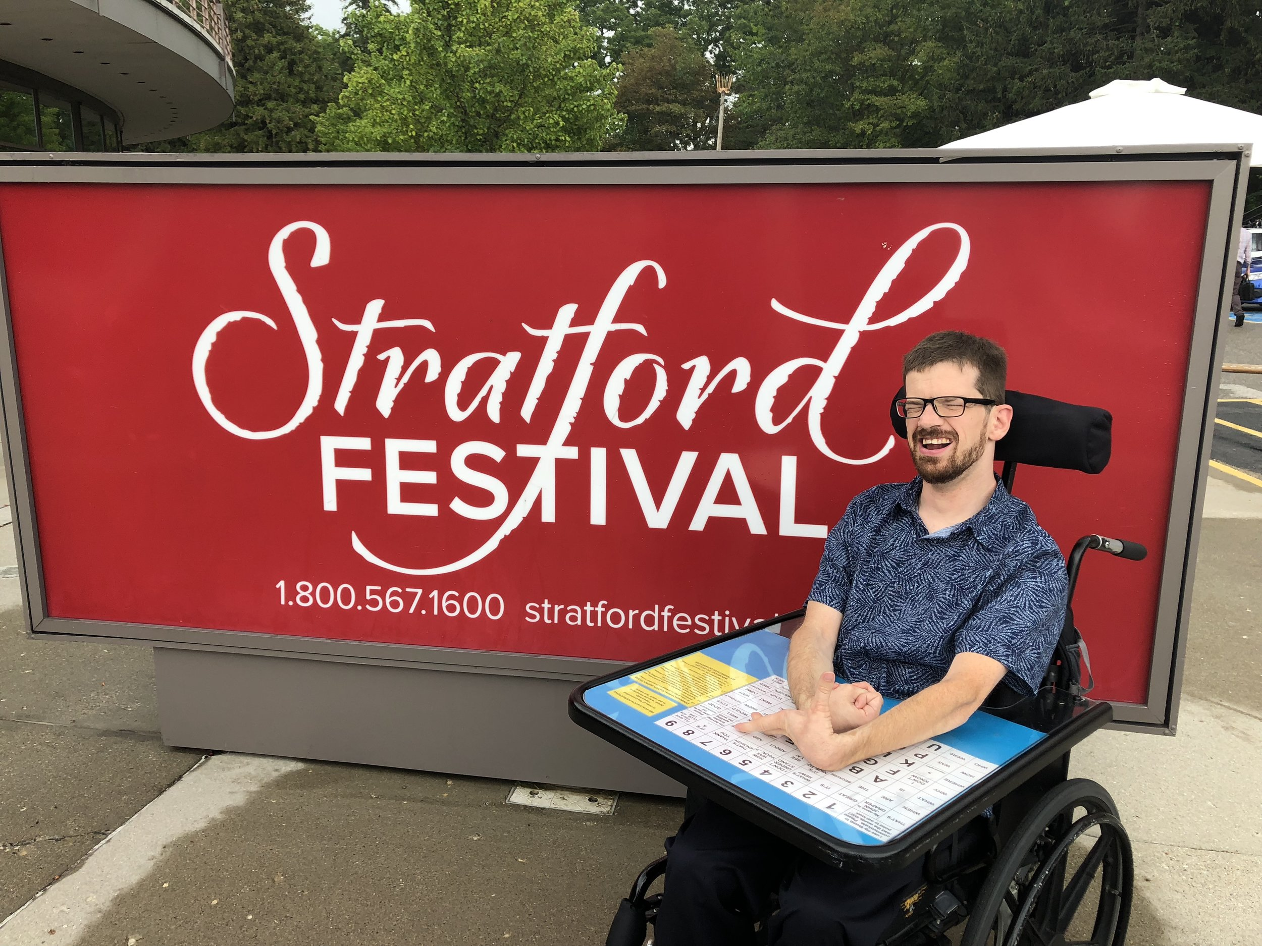 wheelchair jumia back supports for office chairs blog together we rock john s accessible summer adventures stratford festival
