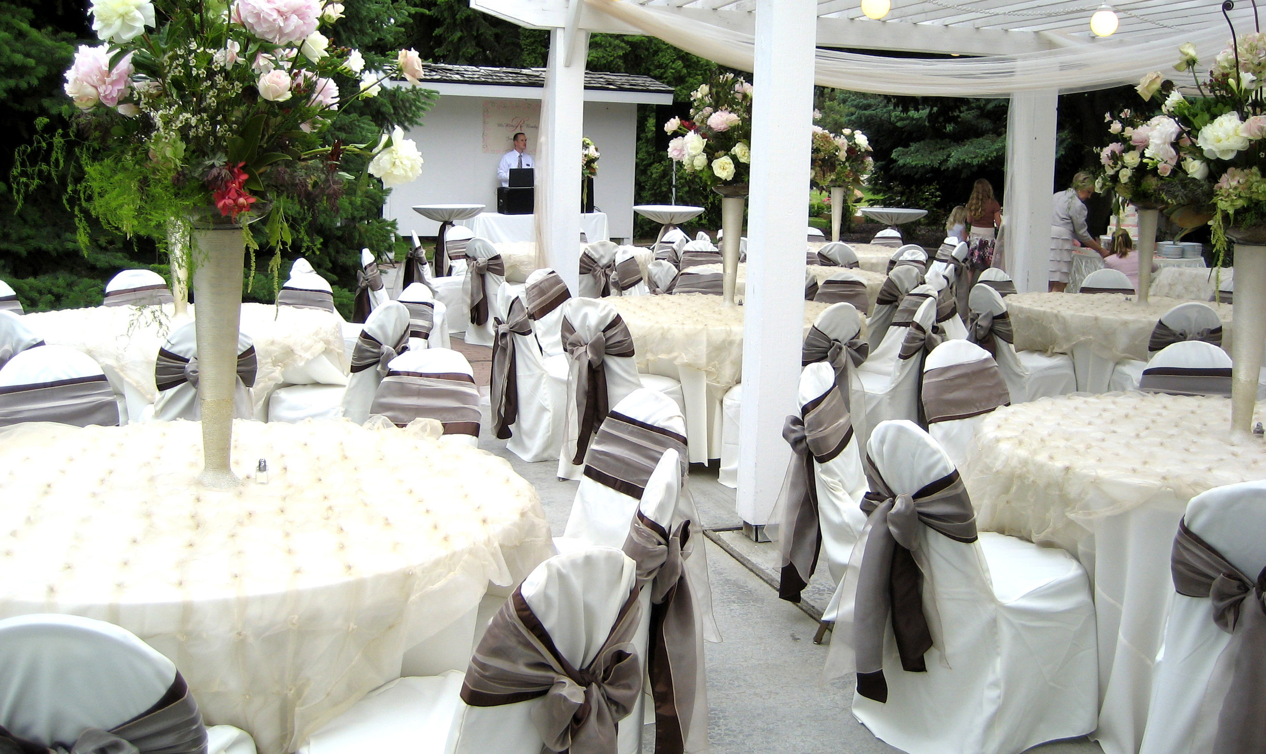chair cover rentals dearborn mi dining table with green chairs party max event equipment rental in livonia