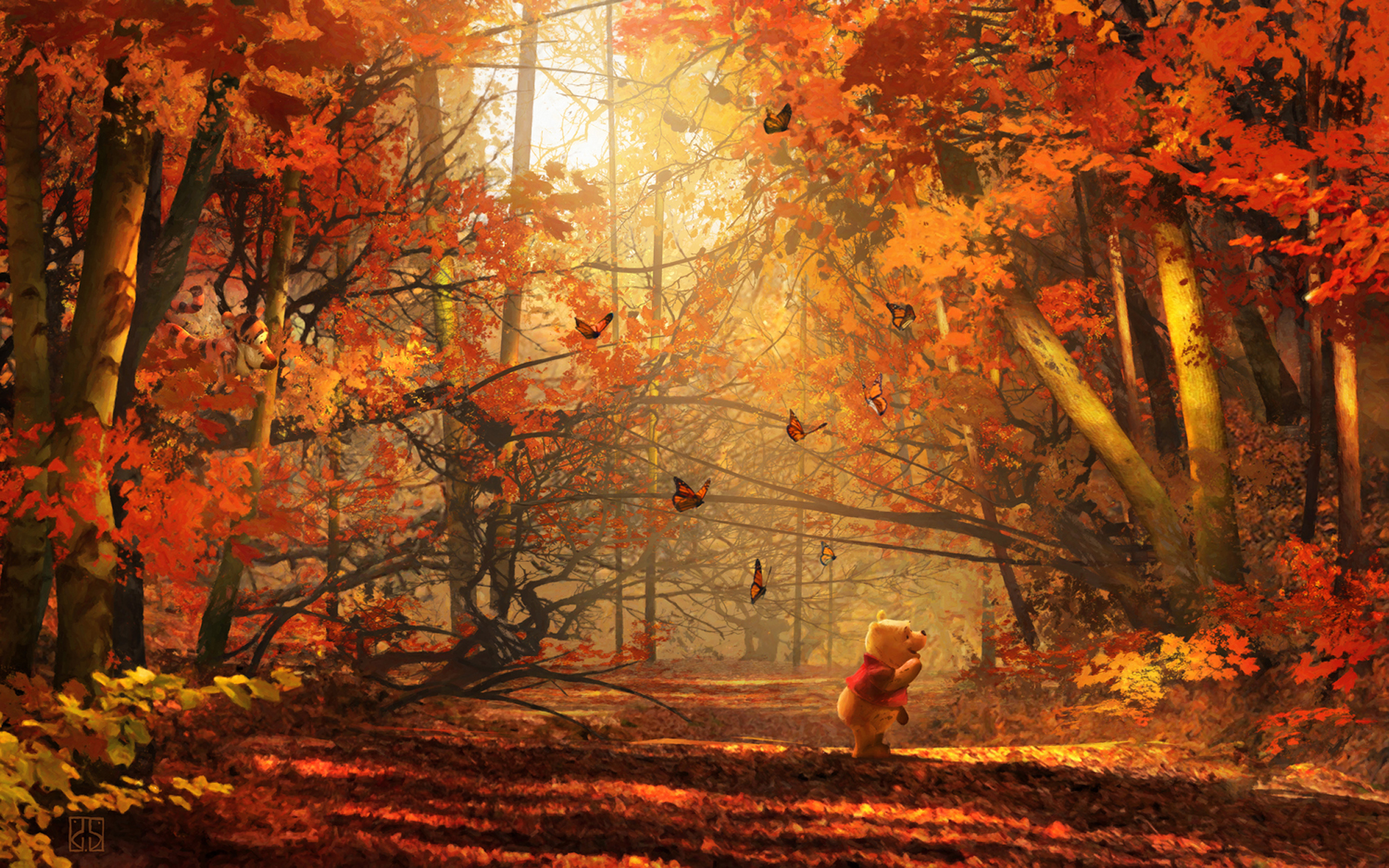 Winnie The Pooh Fall Wallpaper The Art Of Stephan Martiniere Disney Stephan Martiniere