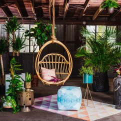 White Bohemian Hanging Chair Rocking Covers Walmart Modern Ann Cox Design Interior In Tampa