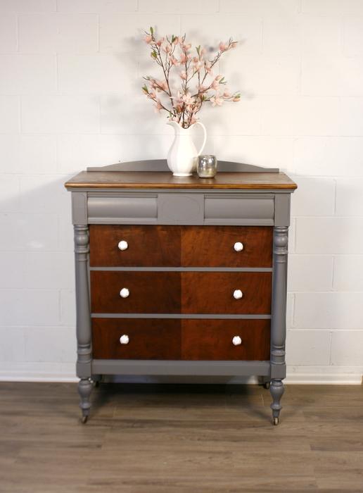 Antique Driftwood TwoTone Dresser  Roots  Wings Furniture LLC