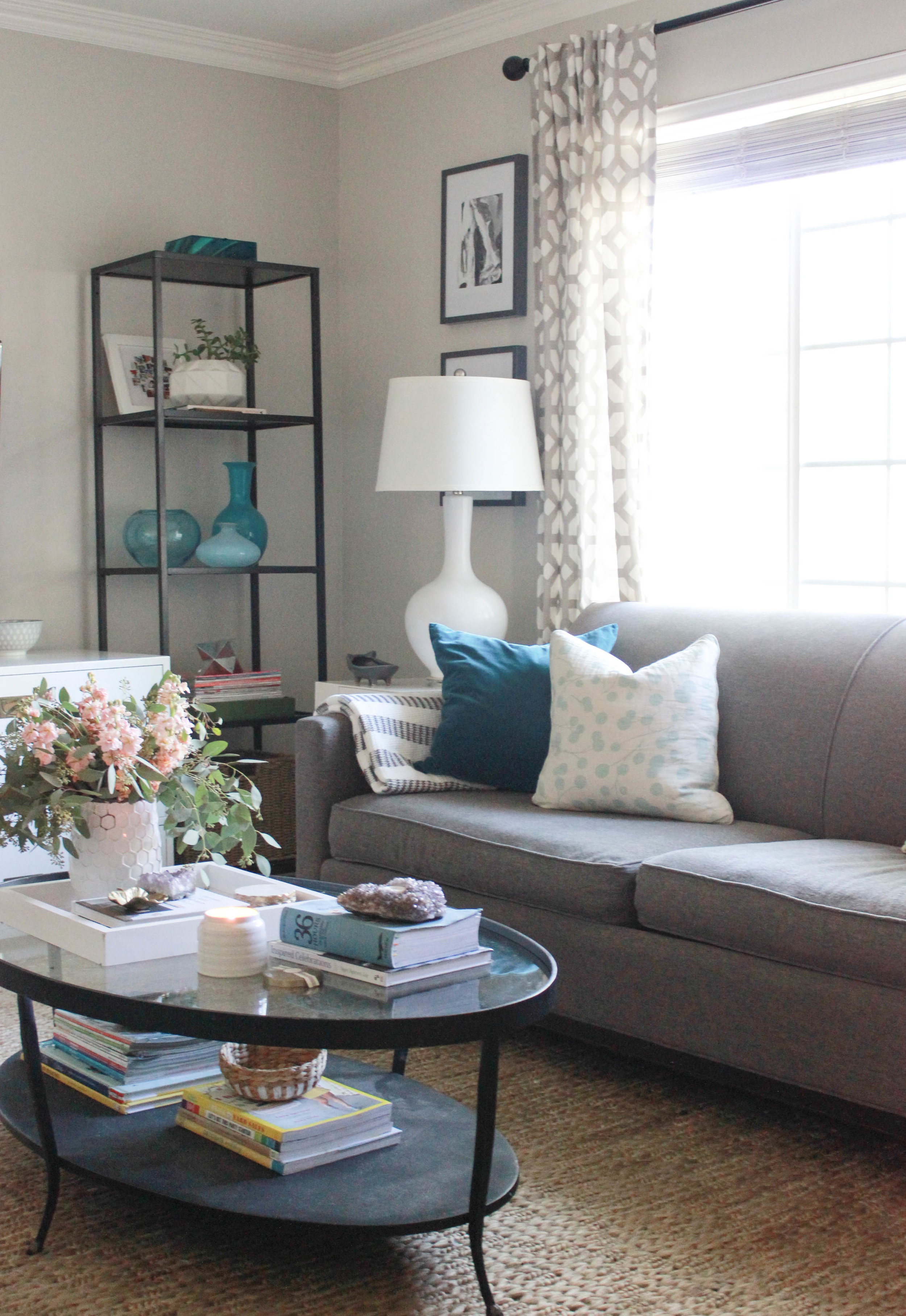 living room rug with grey couch paint colour ideas update jute addition addiction katrina blair our new arrived about three weeks ago and i wanted to make sure absolutely loved the before sharing all deets on blog