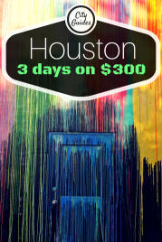 Houston it a HARD place to see on a budget... $300 enabled me to see a lot, while not going (entirely) broke!