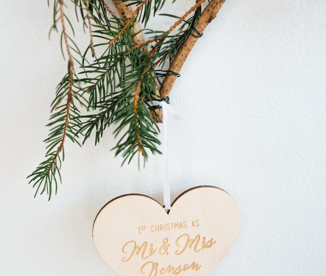 Semi Custom Newlyweds First Christmas Ornament