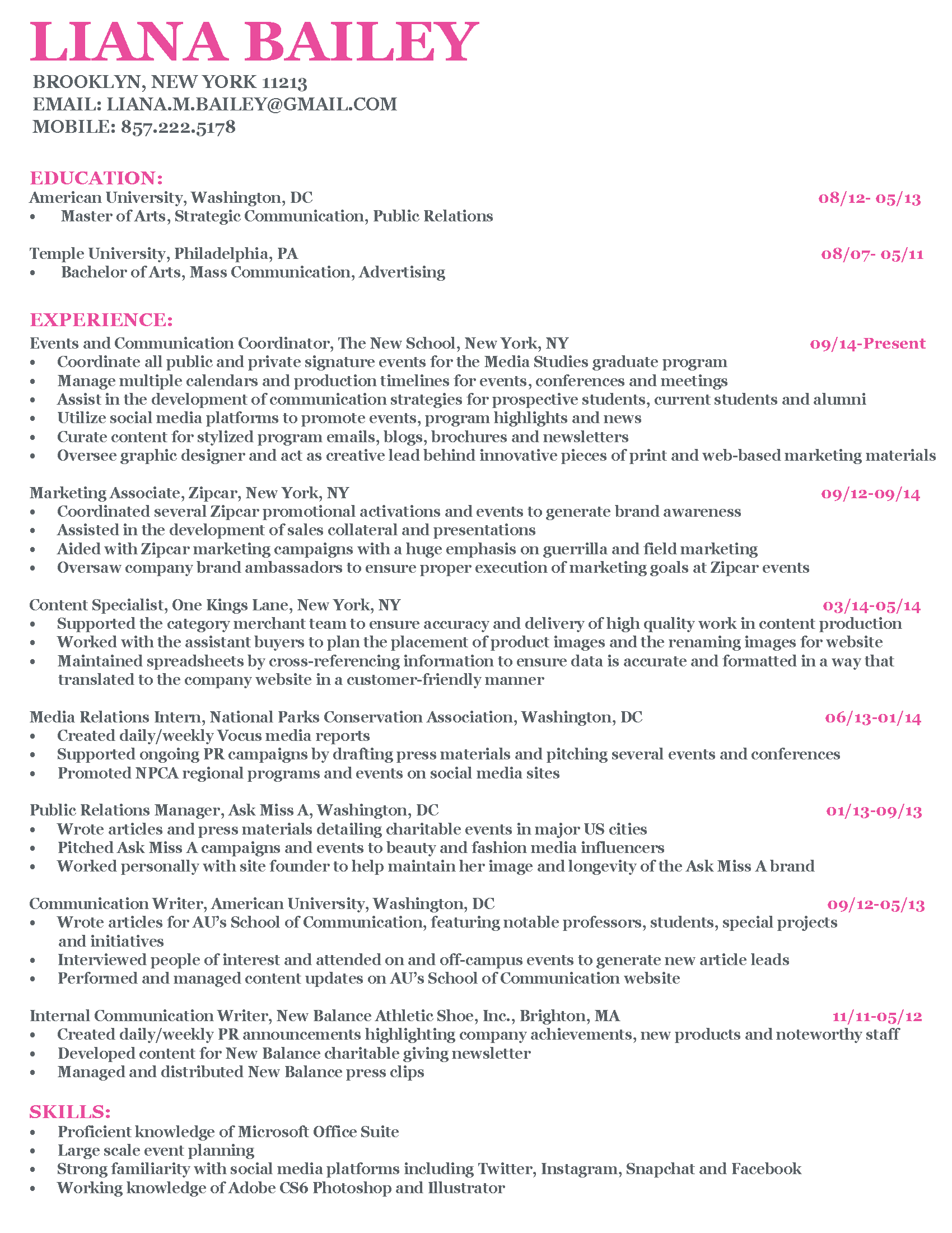 Guerrilla Resume Resume Living Lovely