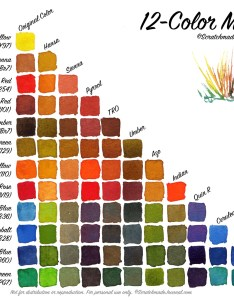 color palette mixing chart also watercolor  scratchmade journal rh scratchmadejournal