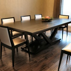 Kitchen And Dining Room Tables Cabinets Online Saskatoon Taylor Made Furniture The Mercury Table In A Contemporary Finish With Flame Chairs