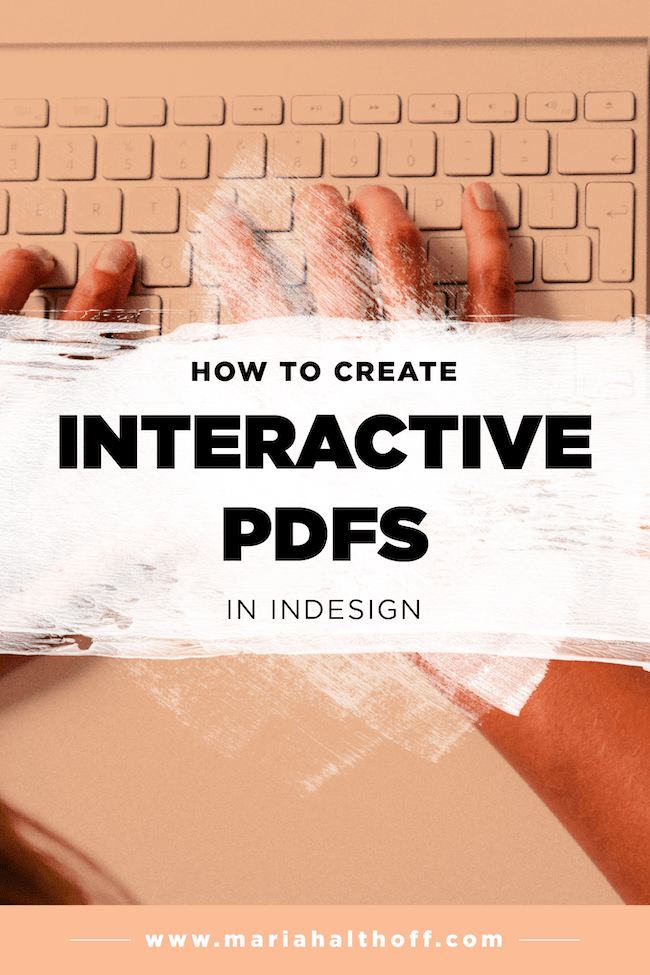 How to Create an Interactive PDF in InDesign  Mariah