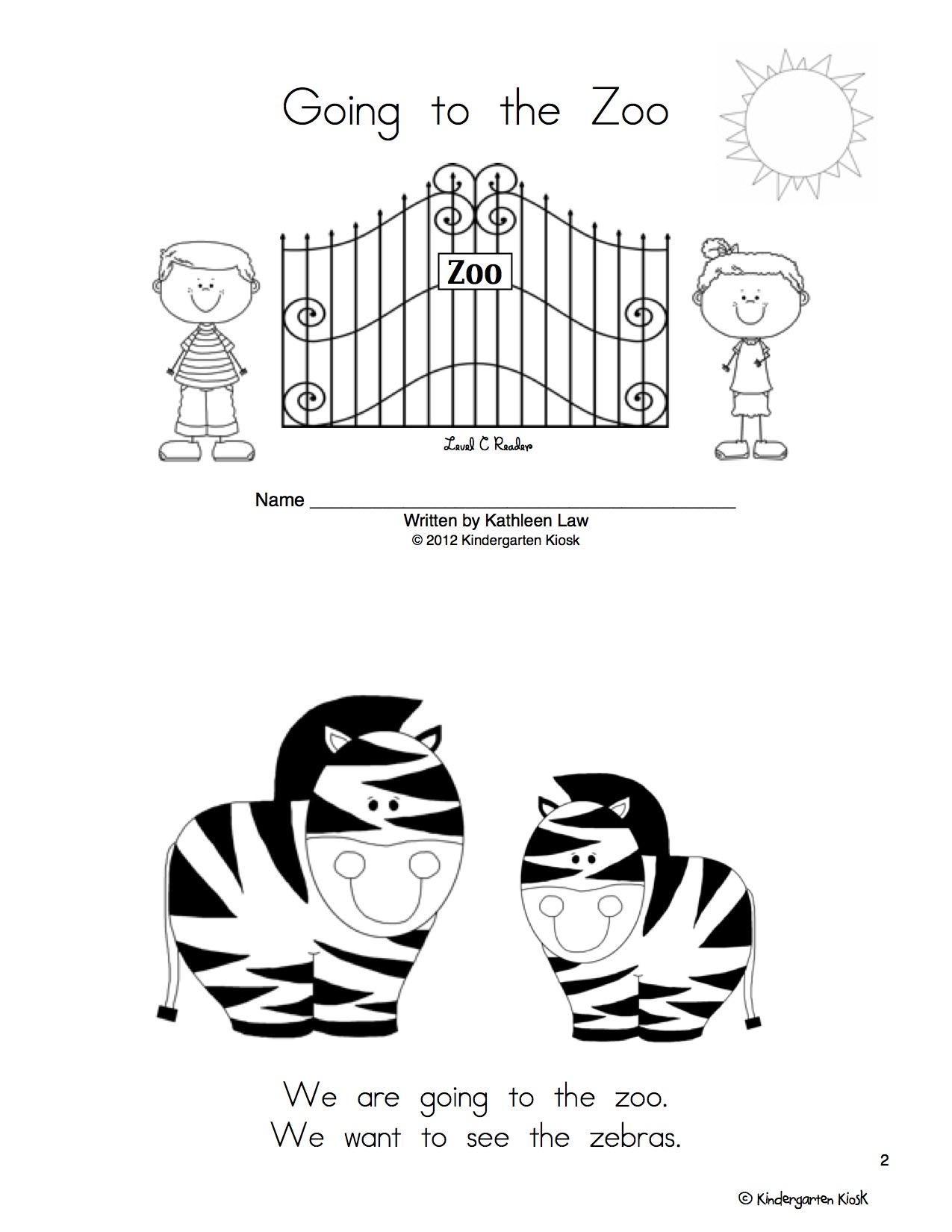 Zoo Thematic Unit — Kindergarten Kiosk