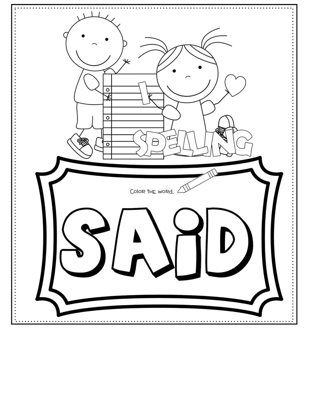 Sight Word NO-PREP Multi-Task Worksheets — Kindergarten Kiosk