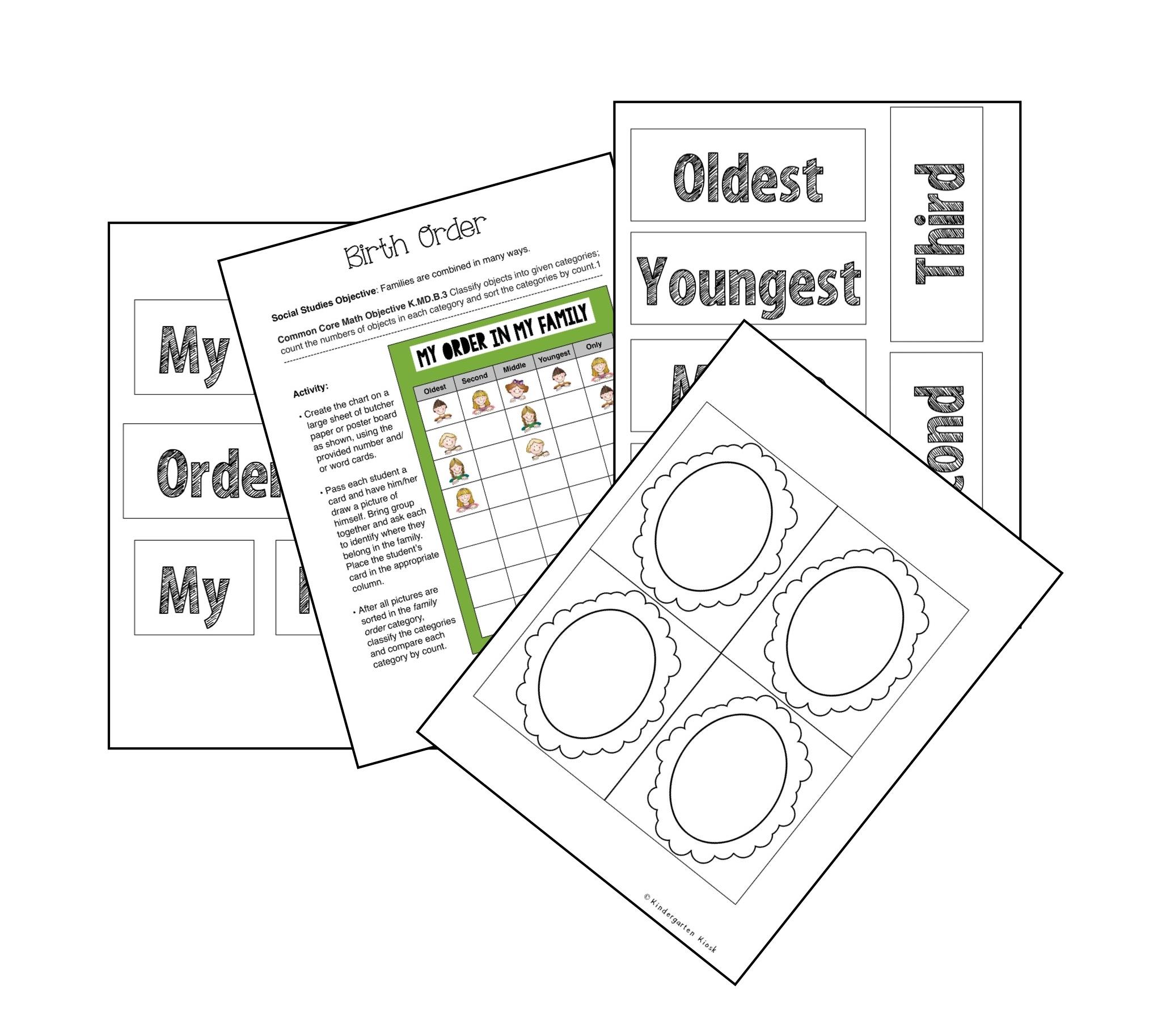 Thematic Unit: Families — Kindergarten Kiosk