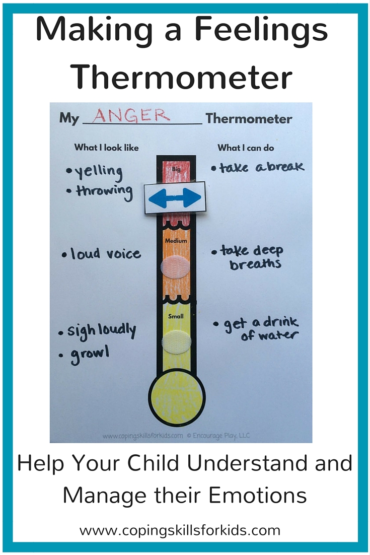 hight resolution of Making a Feelings Thermometer — Coping Skills for Kids