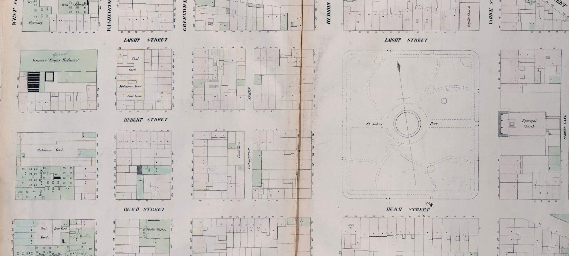 hight resolution of william perris maps of the city of new york 1852 54