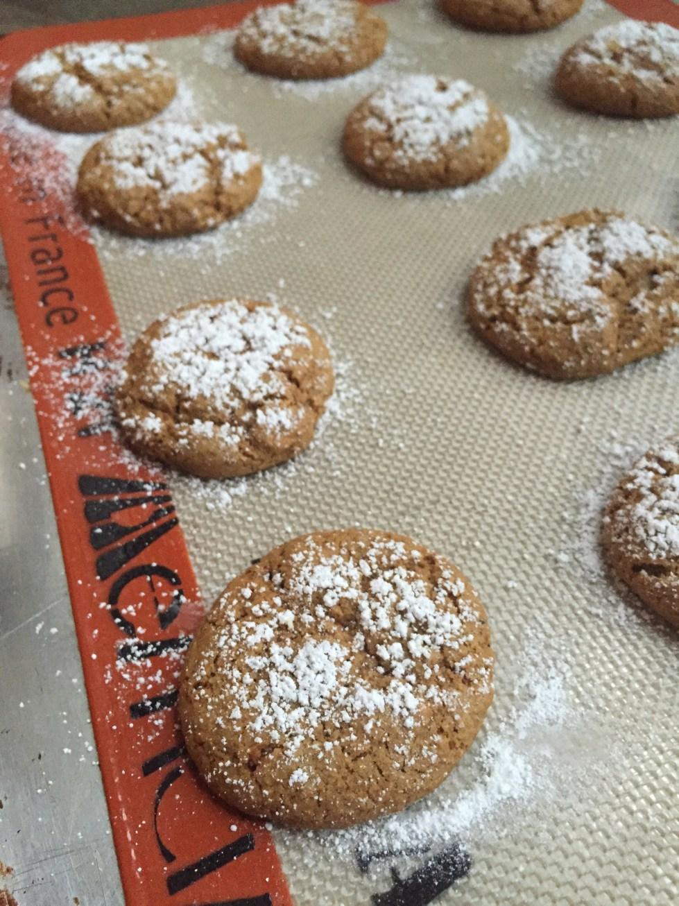 vegan gingersnap cookies