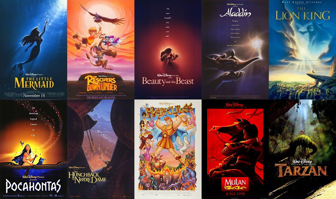 From a ten year period (1989-1999) Disney had unparalleled success.   Box office records, critical acclaim, Academy Awards.   This period of time was called the Disney Renaissance