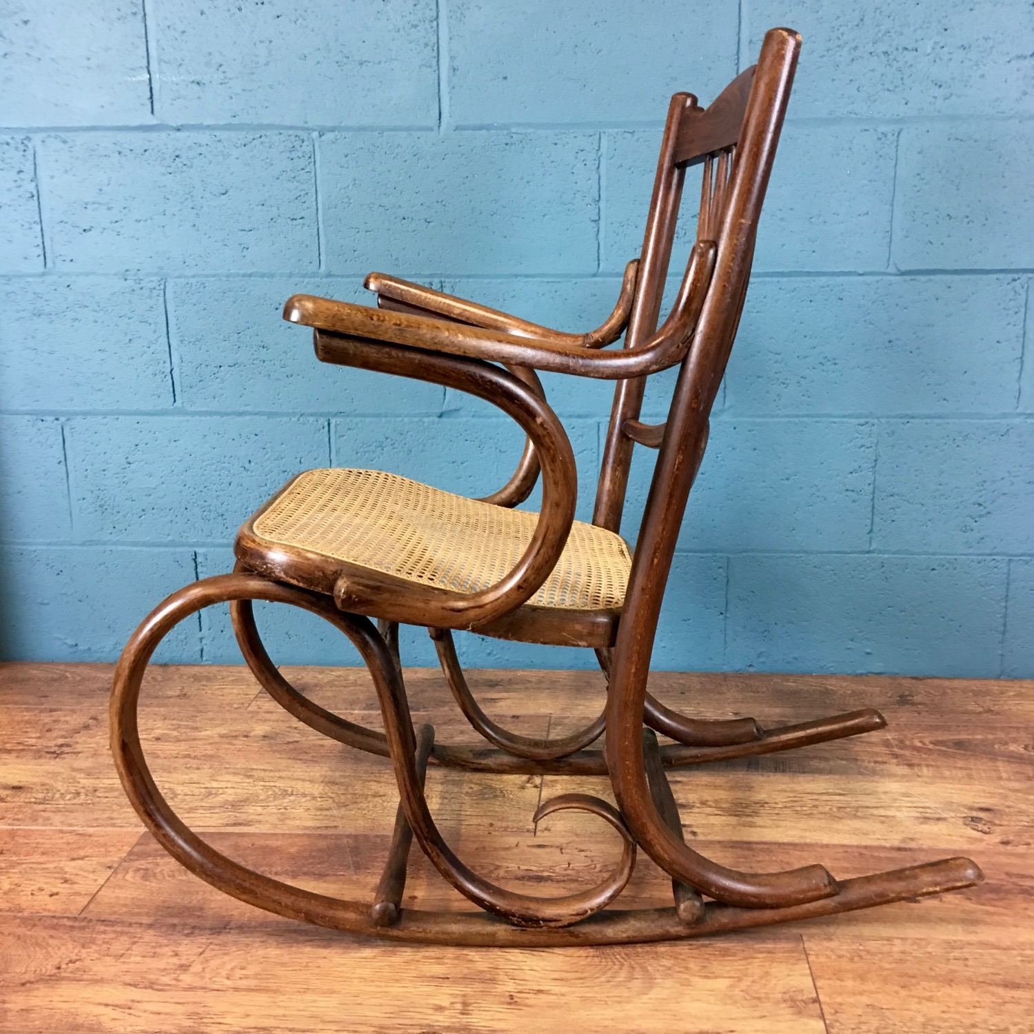 1920s rocking chair outdoor patio furniture bentwood walcot and co