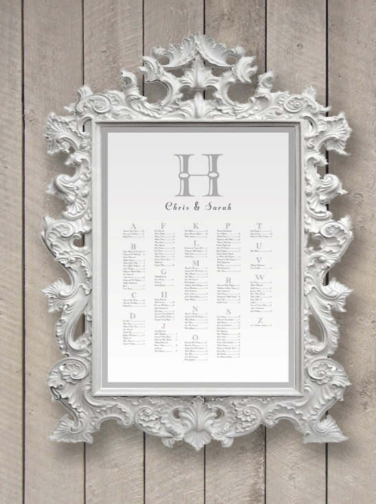 Framed seating chart also tuesday tips  trends escort card vs place rh thesilverstarfish