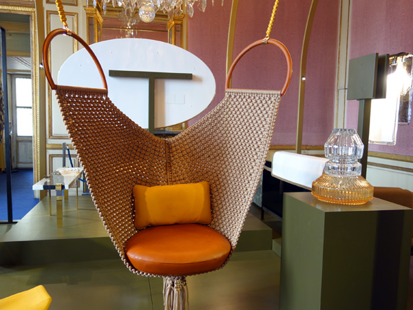 swing chair patricia urquiola breakfast table and chairs for two ad collections at the hotel de la marine cura genda from louis vuitton objet nomades collection by vase