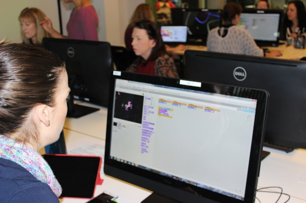 Coding professional development workshop for librarians - programming with Scratch