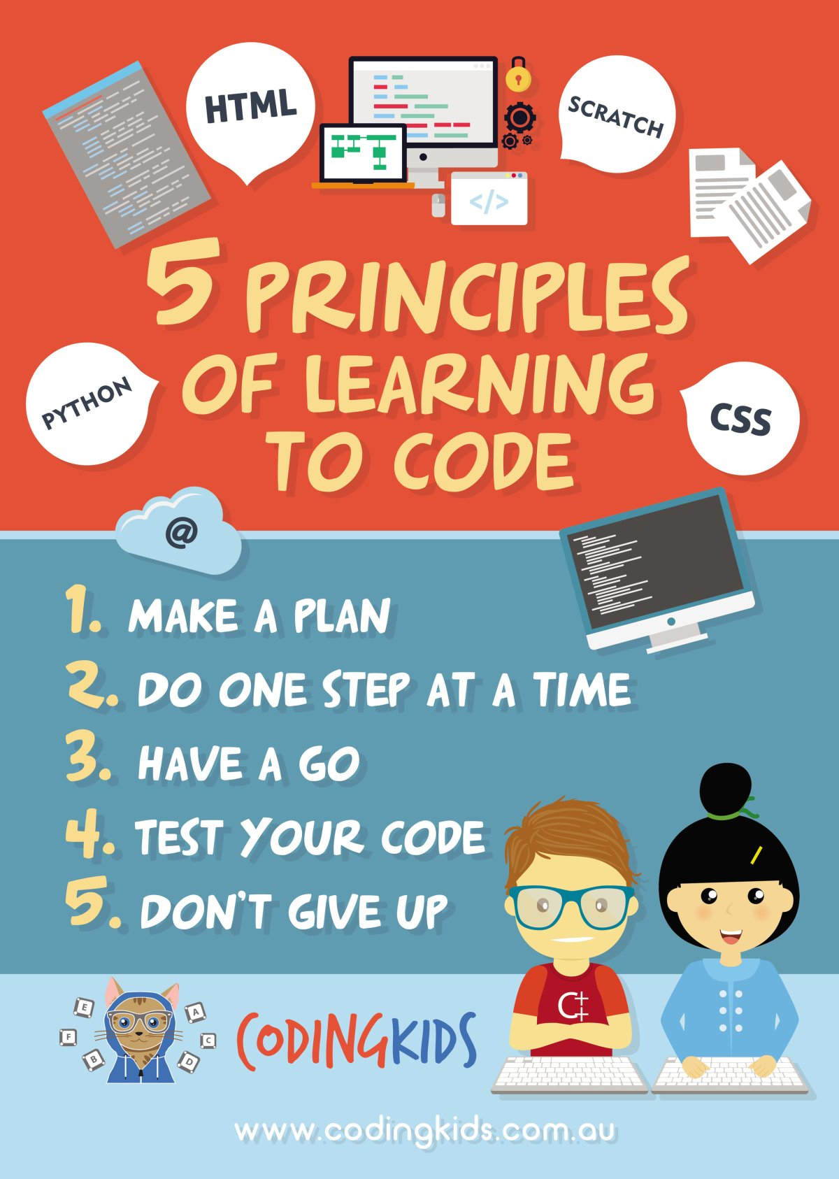 5 principles of learning to code with Coding Kids