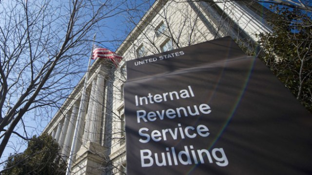 The Internal Revenue Service (IRS) building is viewed in Washington, DC (AFP Photo/Jim Watson)