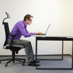 Desk Chair Back Support Futon Mattress Effects Of Ergonomics On Employee Productivity [infographic] — Ridiculously Efficient