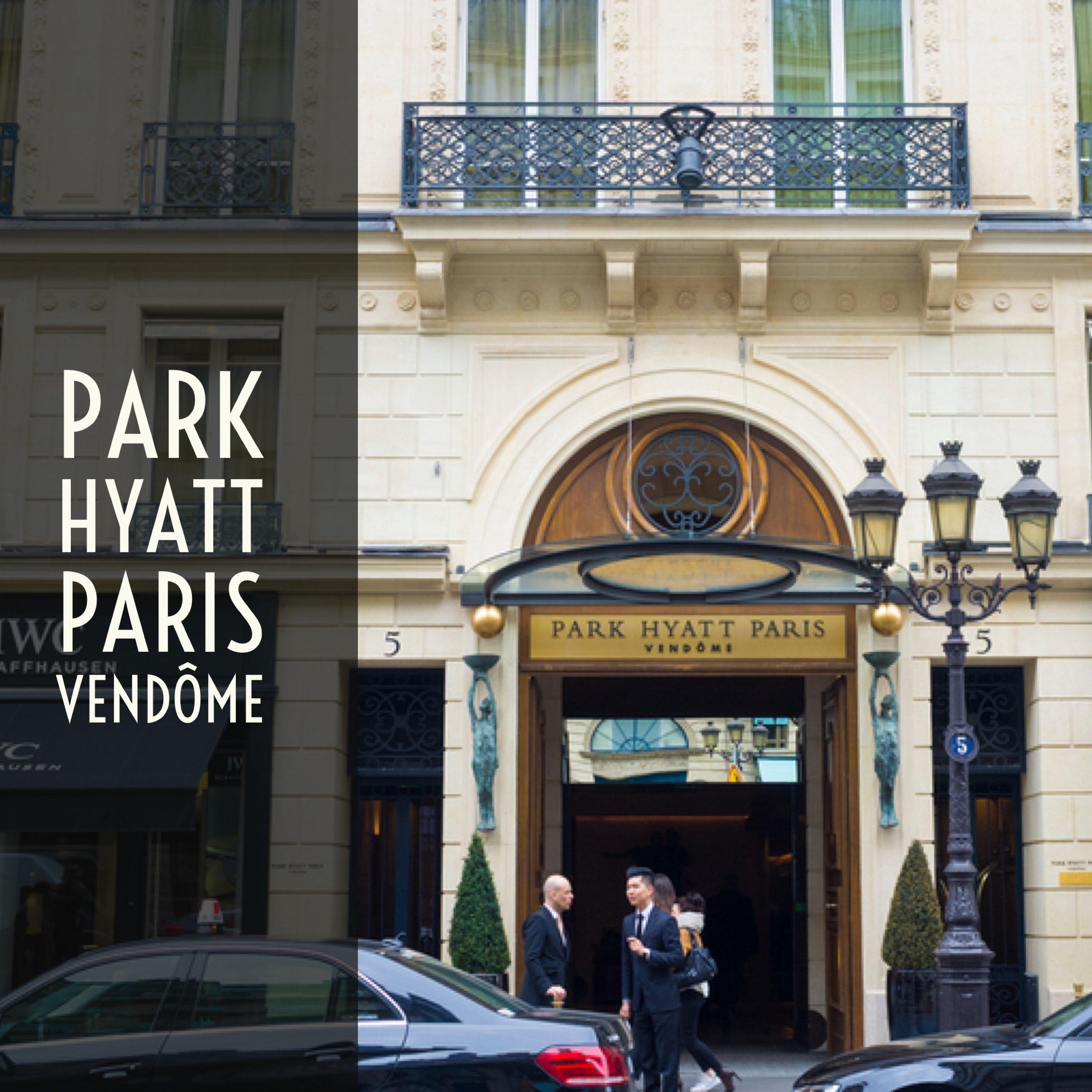 Park Hyatt Paris-vend Luxury Stay In Paris